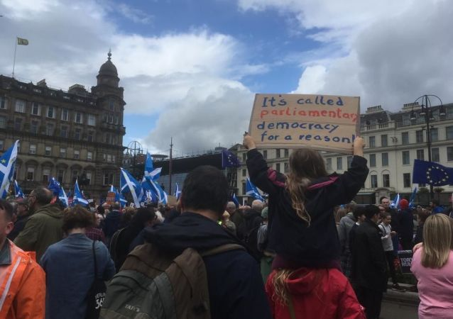 Protests in Glasgow