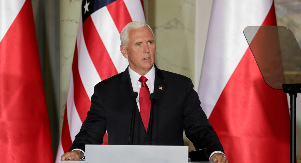 U.S. Vice President Mike Pence speak during a press conference in Warsaw, Poland September 2, 2019