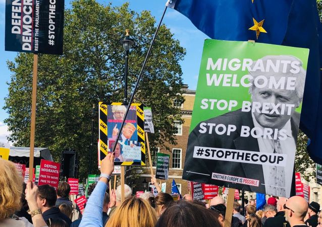 StopTheCoup rally in London