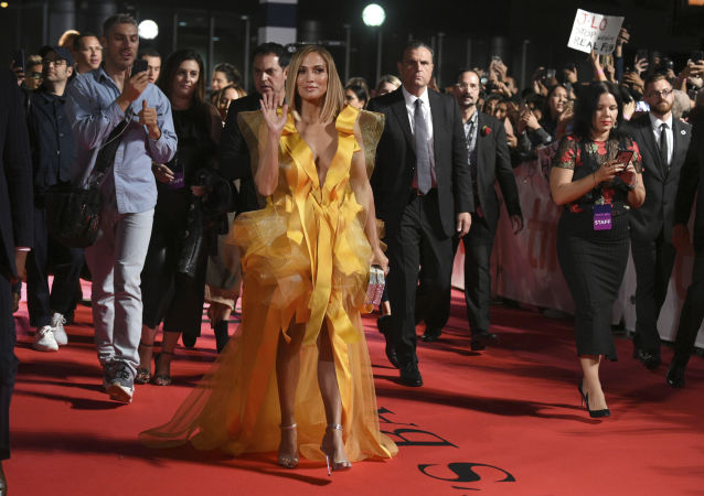 Jennifer Lopez attends the premiere for Hustlers on day three of the Toronto International Film Festival at Roy Thomson Hall on Saturday, Sept. 7, 2019, in Toronto.