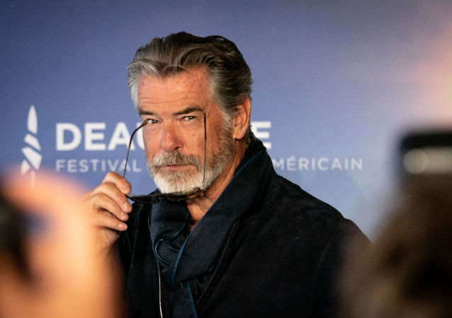 US-Irish actor Pierce Brosnan poses during a photocall as part of the 45th Deauville US Film Festival, on September 7, 2019 in Deauville