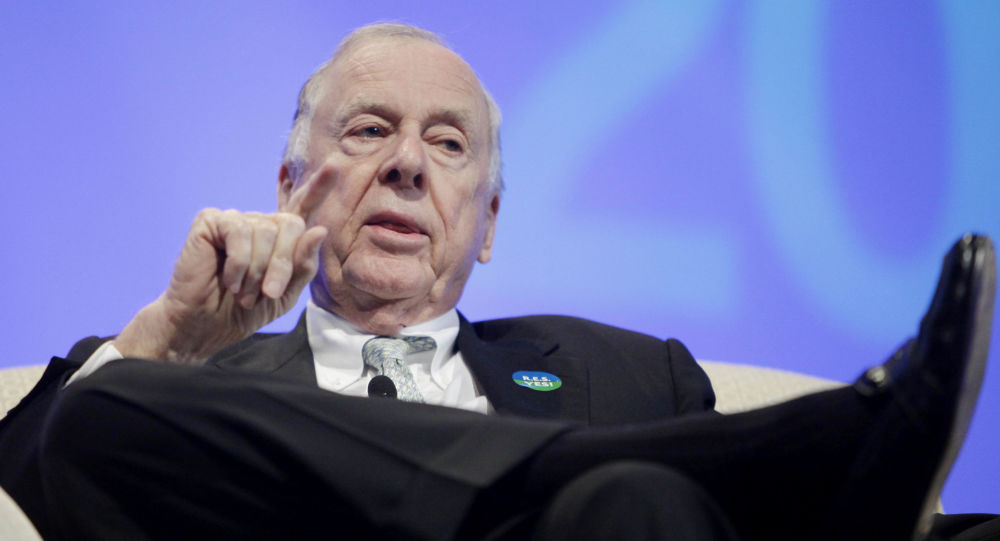 Legendary Texas oil and gas executive T. Boone Pickens discusses his energy plan at the American Wind Energy Association conference Wednesday, May 6, 2009, in Chicago.
