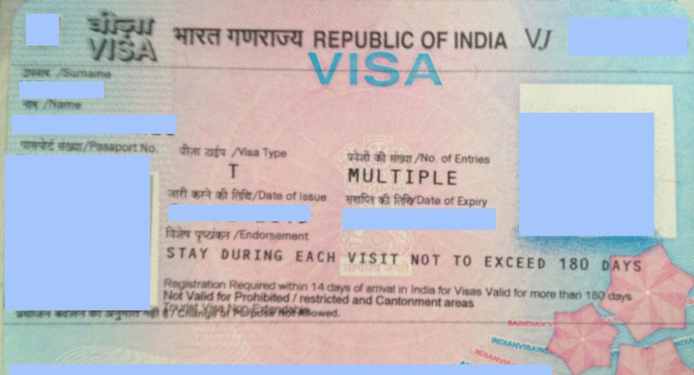 Visa for the Republic of India