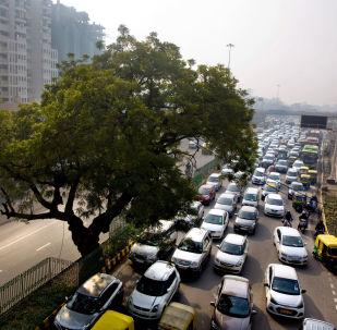 A massive traffic in New Delhi, India (File)