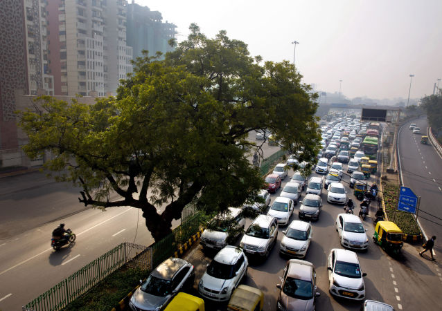 A massive traffic in New Delhi, India (File)
