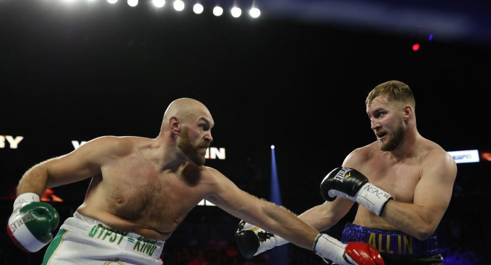 Heavyweight Boxing Stars Tyson Fury and Otto Wallin Talk To Press After Fight in Las Vegas - Video