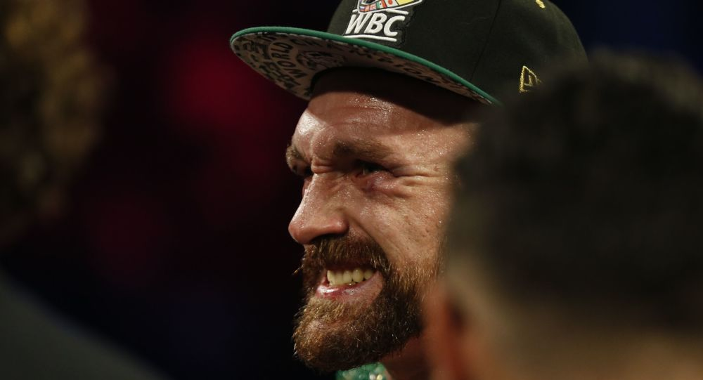 Boxing - Tyson Fury v Otto Wallin - T-Mobile Arena, Las Vegas, United States - September 14, 2019  Tyson Fury reacts as he stands in the ring after winning the fight by unanimous decision REUTERS/Steve Marcus