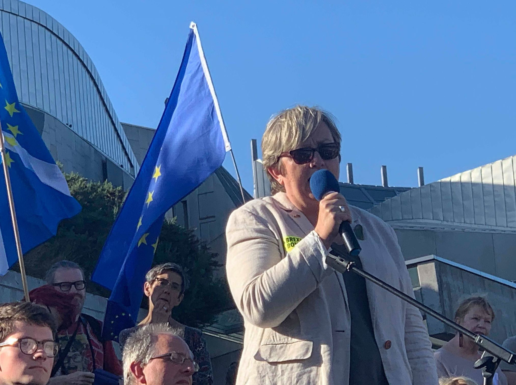 Joanna Cherry QC MP, speaking at March to Remain rally in Edinburgh