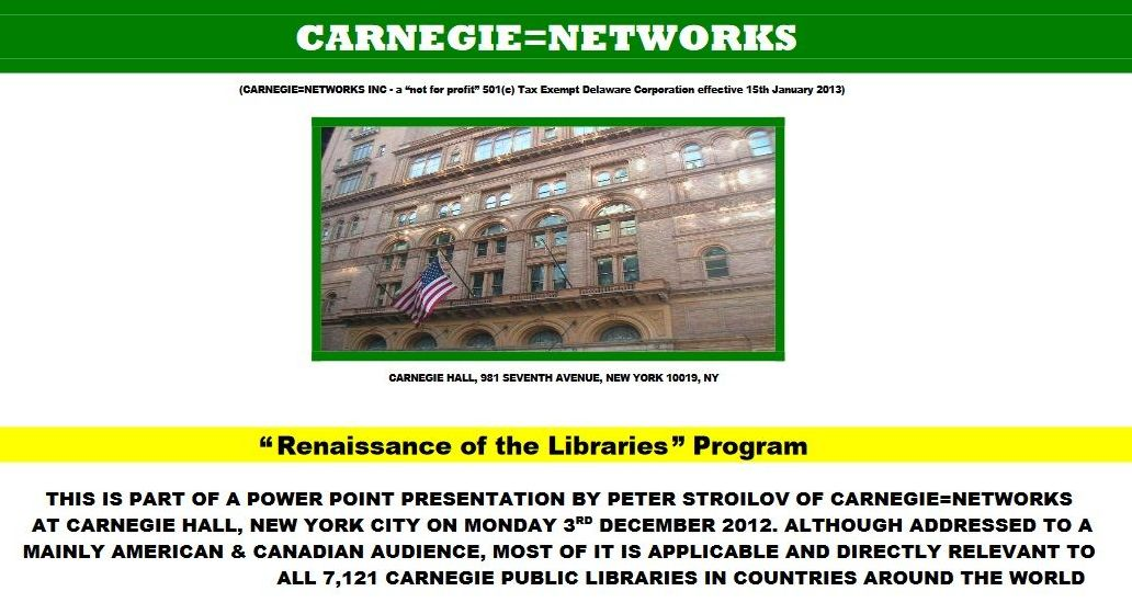 Carnegie network power point presentation by Peter Stroilov