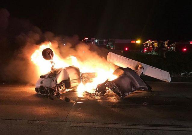Plane crash in CA