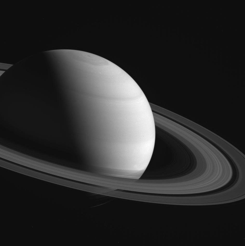 NASA's Cassini spacecraft takes image of Saturn.