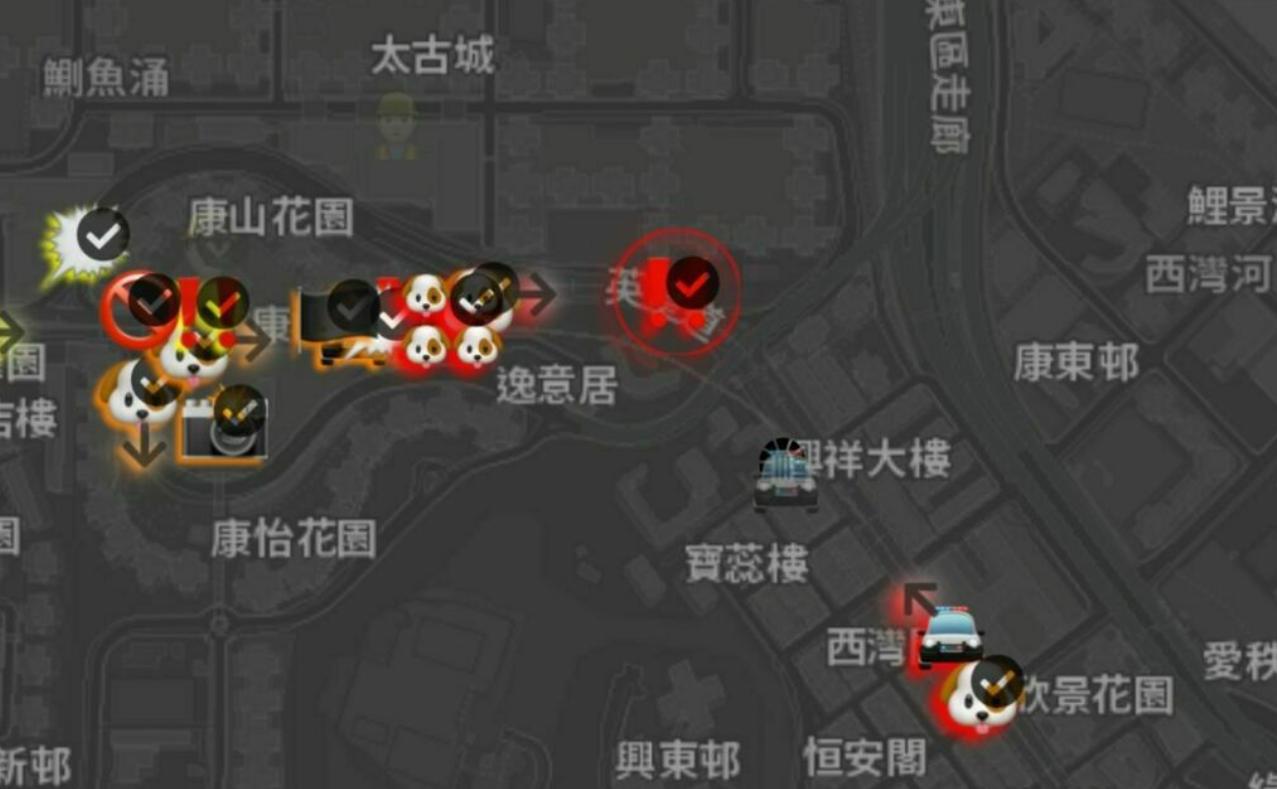 Screenshot of Hong Kong's 2215 Tai Koo Shing Rd on the HKMap Live web application (10/3)