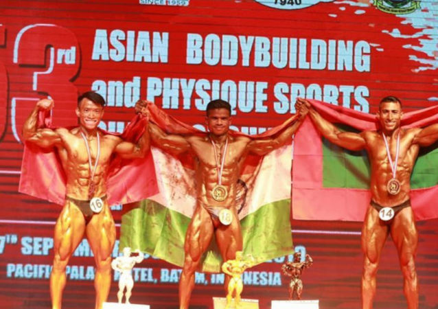 Maj AQ Khan Won Silver Medal in 53rd Asian Body Building and Physique Sports Championship 2019, Indonesia on 02 Oct 2019