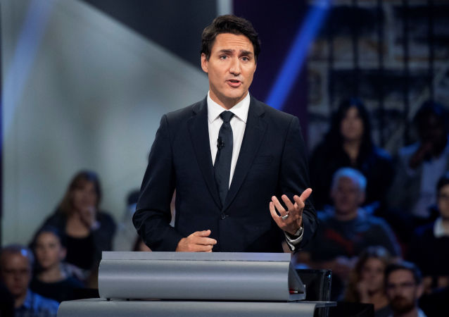 Liberal leader Justin Trudeau responds to a question during the Federal leaders debate in Gatineau, Quebec, Canada October 7, 2019