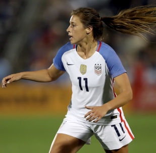 Sofia Huerta #11 of the United States plays in the second half against New Zealand at Dick's Sporting Goods Park on September 15, 2017 in Commerce City, Colorado