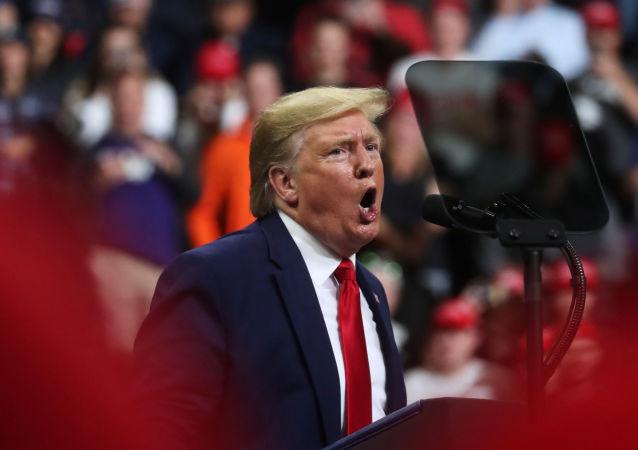 U.S. President Donald Trump holds a campaign rally in Minneapolis, Minnesota, U.S., October 10, 2019.