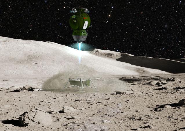 LK Lander - Lunniy Korabl ascent from Moon