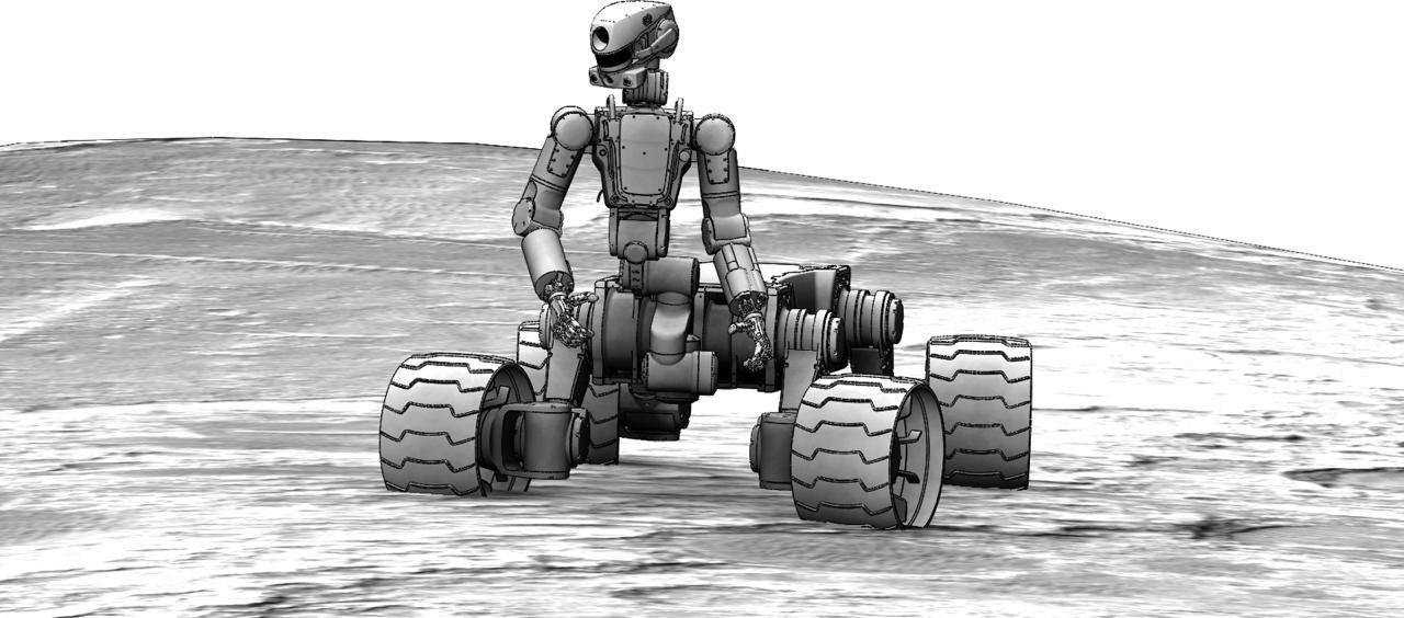 Fedor robot with wheels for Moon, Mars exploration   (concept)