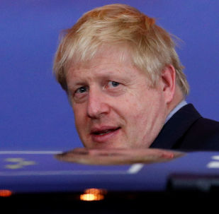 Britain's Prime Minister Boris Johnson leaves the European Council after the Brexit-dominated European Union leaders summit in Brussels, Belgium October 18, 2019.