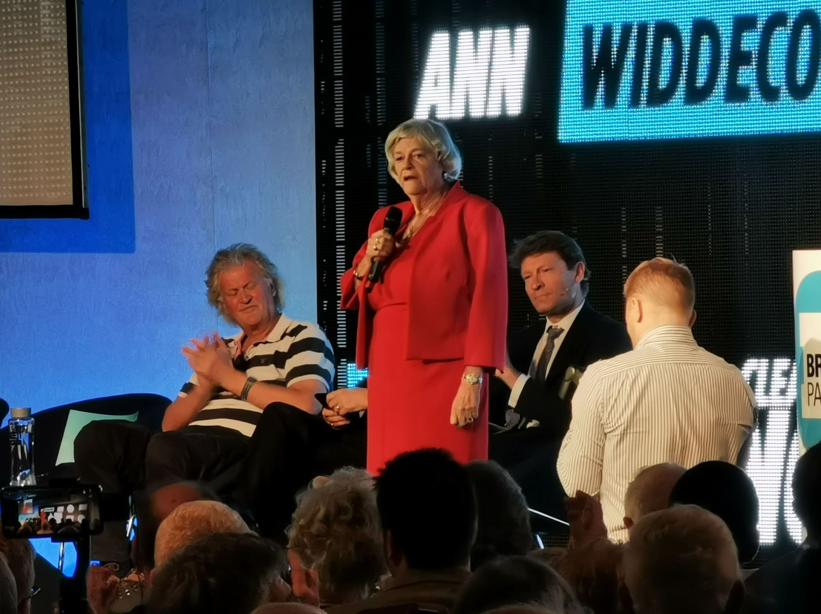 Ann Widdecombe at Brexit party rally
