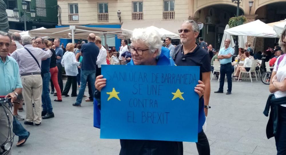 Anti-Brexit demonstration in La Linea de la Concepcion