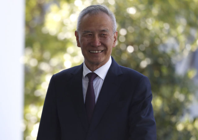 China's Vice Premier Liu He arrives at the West Wing for a meeting with President Donald Trump, Friday, Oct. 11, 2019, at the White House in Washington.