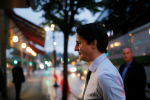 Liberal leader and Canadian Prime Minister Justin Trudeau campaigns for the upcoming election, in West Vancouver, British Columbia, Canada