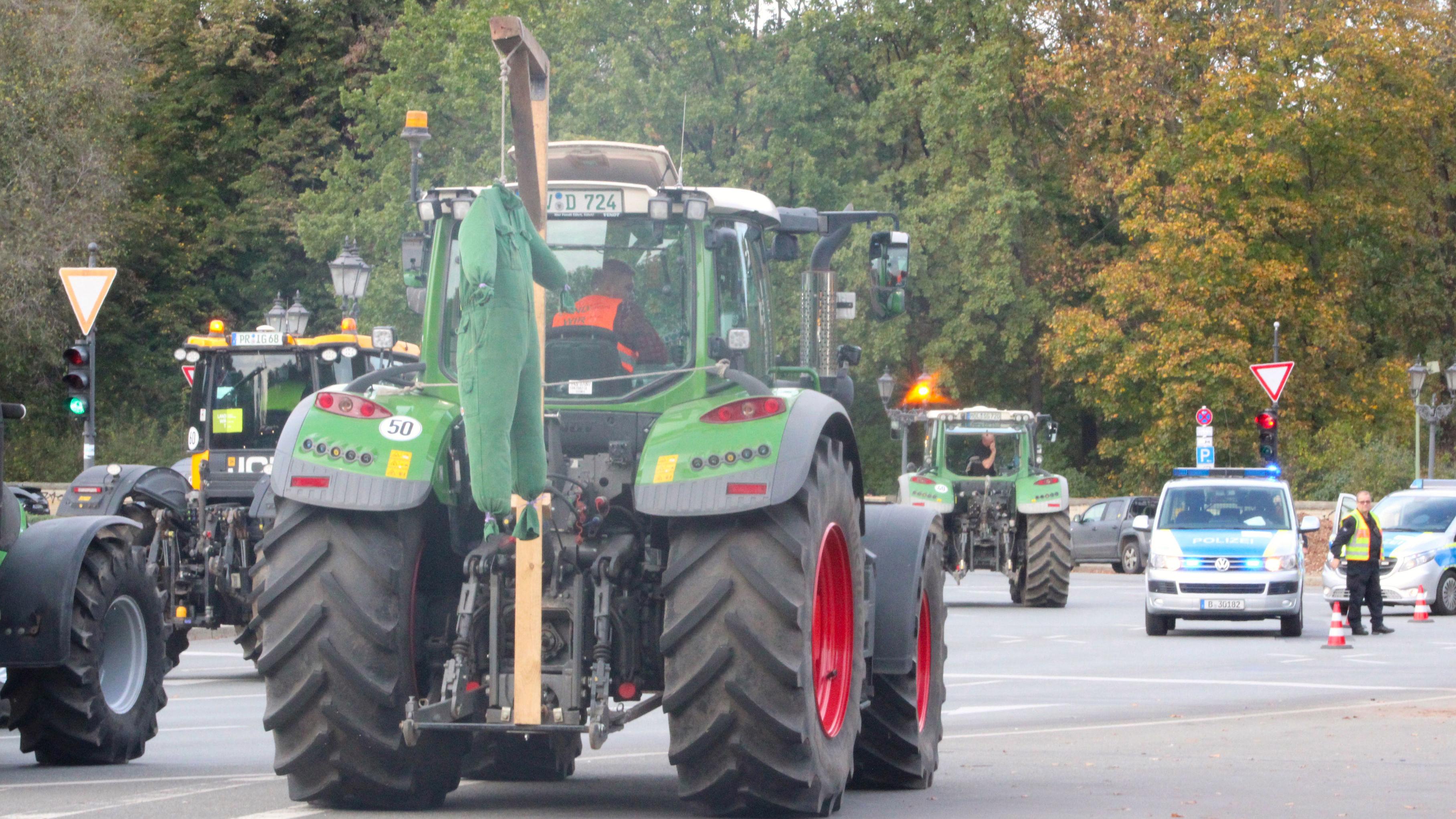 Farmers protests in Berlin, October, 2019