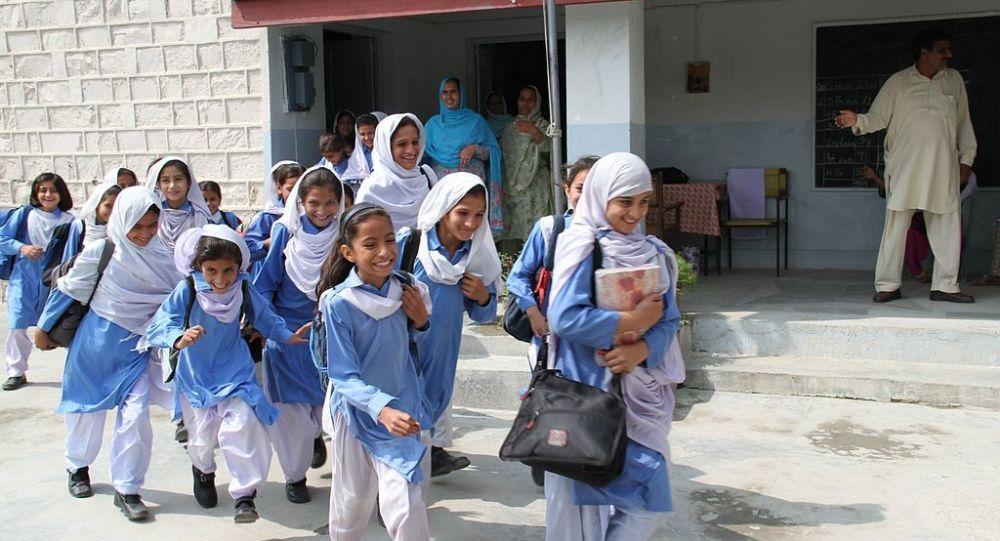 Girls in playground, Abbottabad, Pakistan