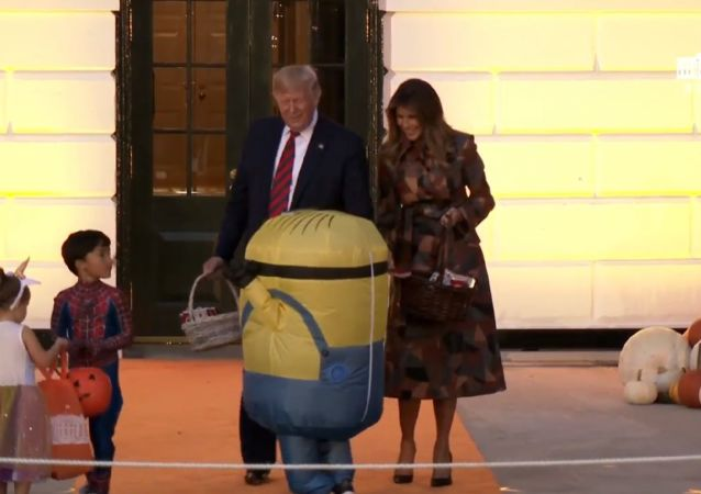 Donald and Melania Trump at Halloween at the White House