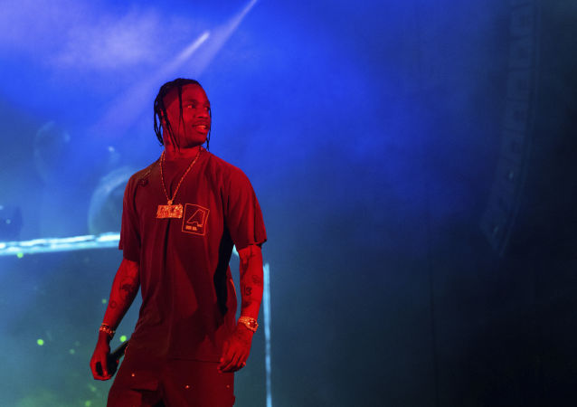 Travis Scott performs on stage during Day 2 of Music Midtown 2019, Sunday, 15 September 2019, in Atlanta