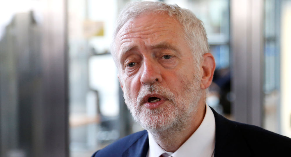 Britain's opposition Labour Party leader Jeremy Corbyn talks to the media after meeting European Union's chief Brexit negotiator Michel Barnier (not pictured) at the EU Commission headquarters in Brussels, Belgium July 13, 2017.