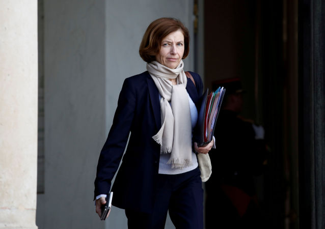 FILE PHOTO: French Defence Minister Florence Parly leaves the Elysee Palace following a cabinet meeting in Paris, France, October 21, 2019