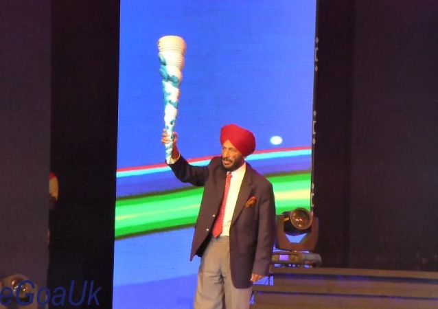 Milkha Singh with torch