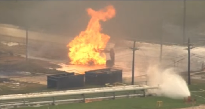 Video: Texas Natural Gas Facility Erupts in Flames After Reported Explosion