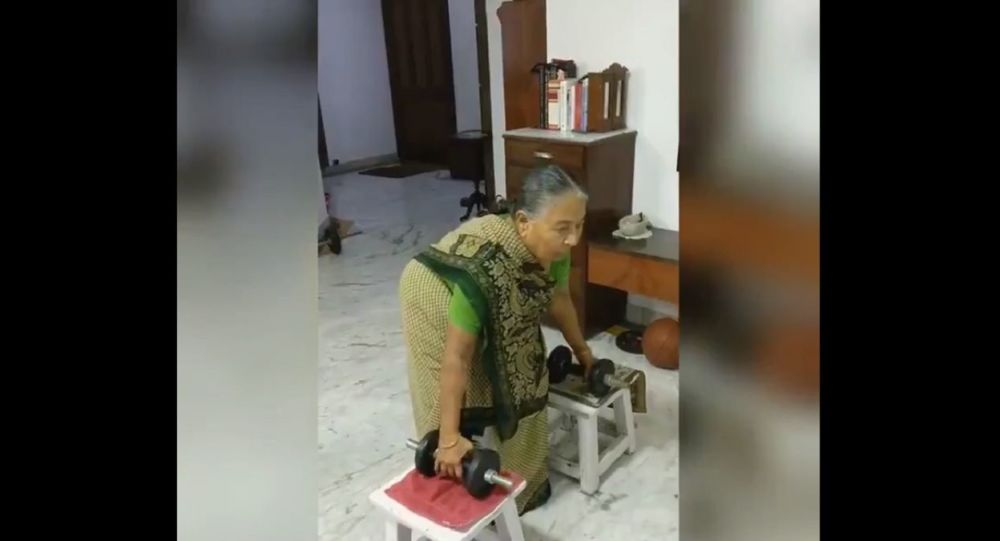 Monday Motivation: Watch This Indian Granny Train With Weights At 82, What's Your Excuse?