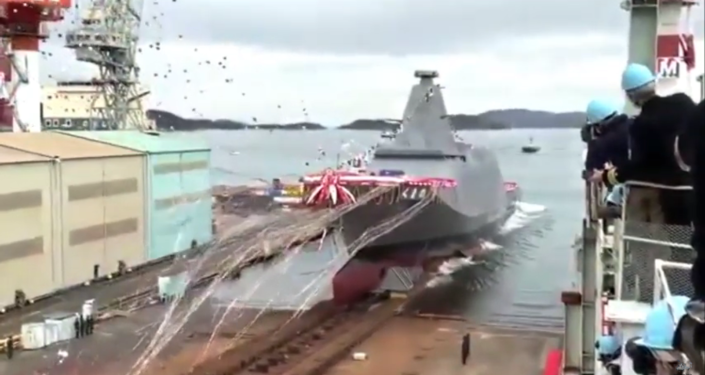 Photos: Japan Launches First in New Class of Stealthy Frigates