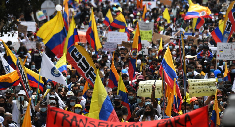 Over 90 People Injured During Protests in Colombia's Bogota Over Past Day