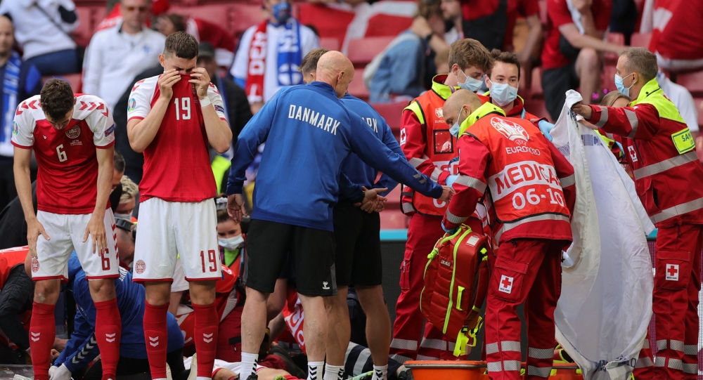 Danish Soccer Player Christian Eriksen Collapses During EURO Match vs Finland - Video