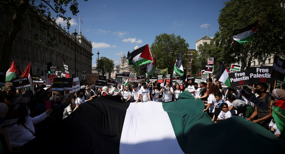Video: Ex-Labour Leader Jeremy Corbin Embraces Pro-Palestinian Rally Outside Downing St