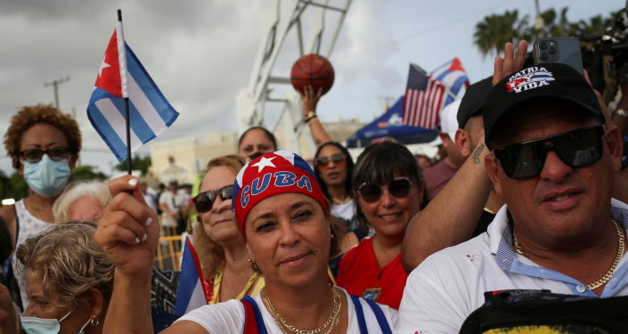 Hundreds Gather Near White House for 'Freedom For Cuba' Protest