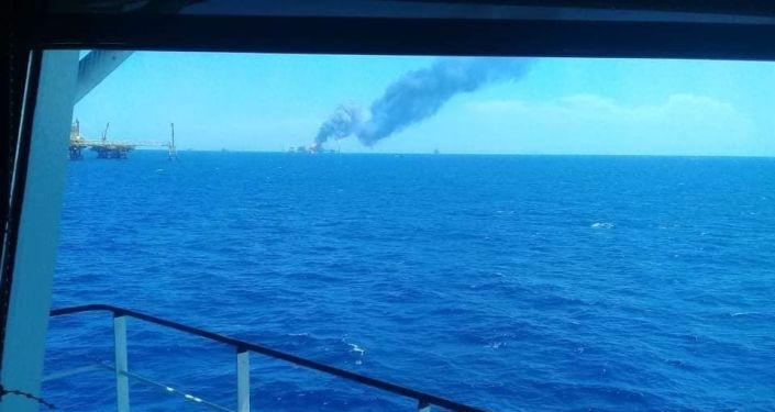 Video: Fire Reported After Explosion at Pemex Oil Platform in Gulf of Mexico, Six Injured