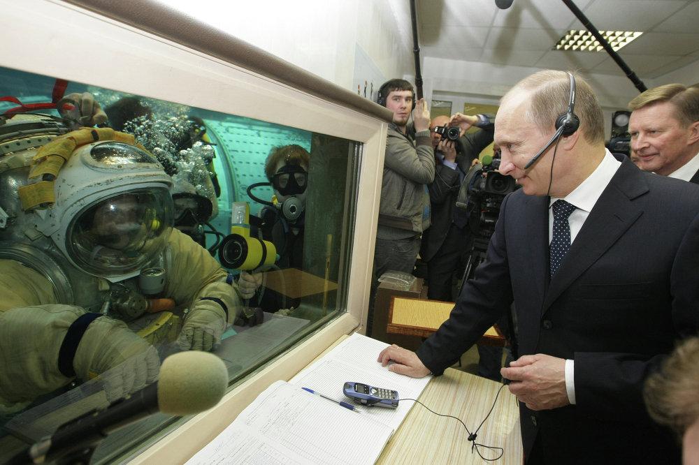 Russian Prime Minister Vladimir Putin visits Yuri Gagarin Research and Testing Cosmonaut Training Center
