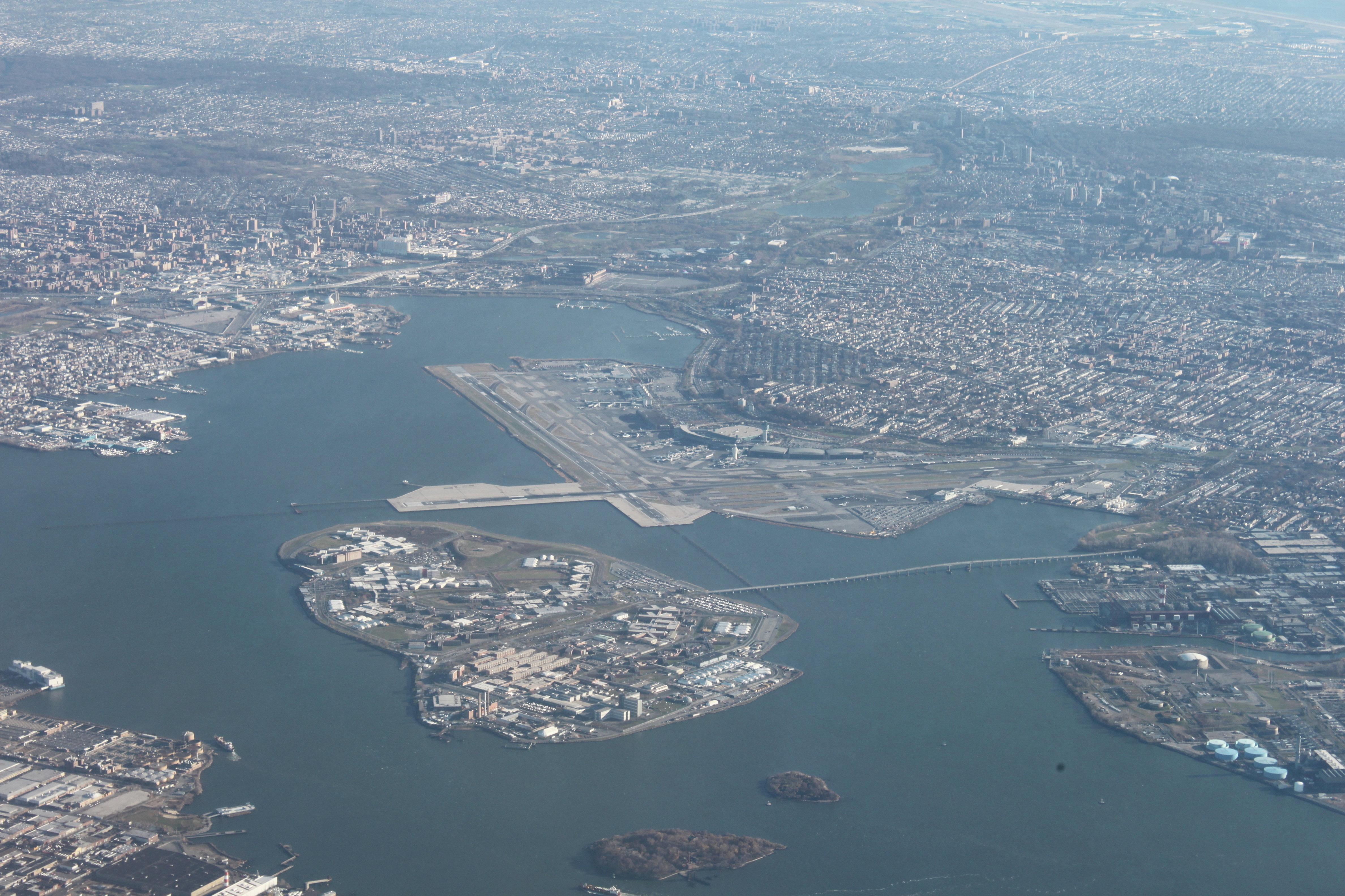 Rikers Island, just north of LaGuardia Airport.