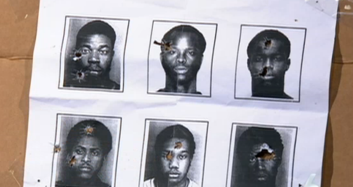 South Florida police officers are using mugshots of African-American men for target practice.