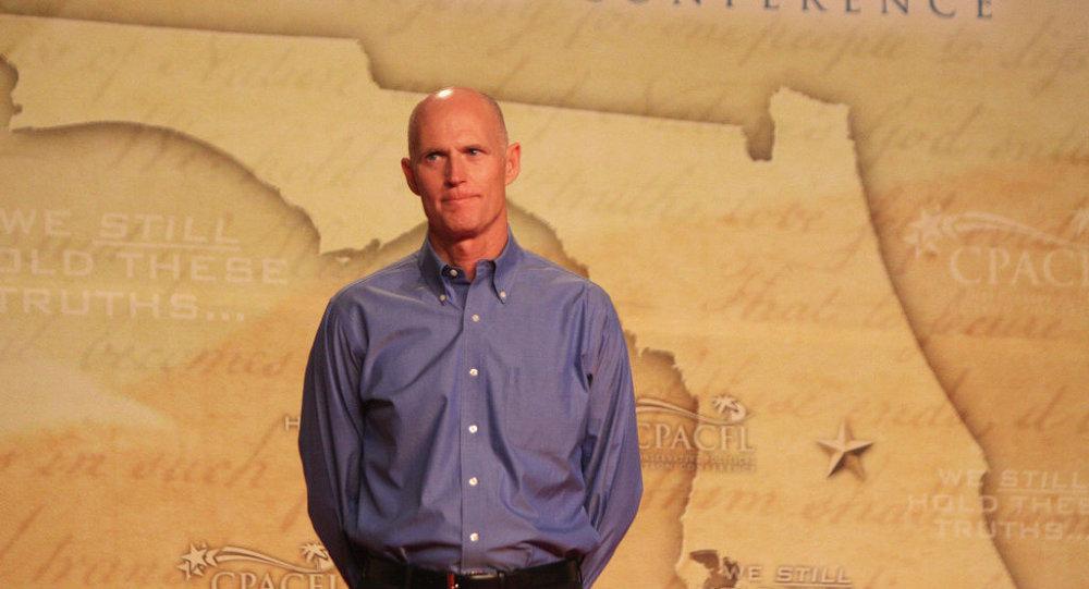 Governor Rick Scott speaking at CPAC FL in Orlando, Florida