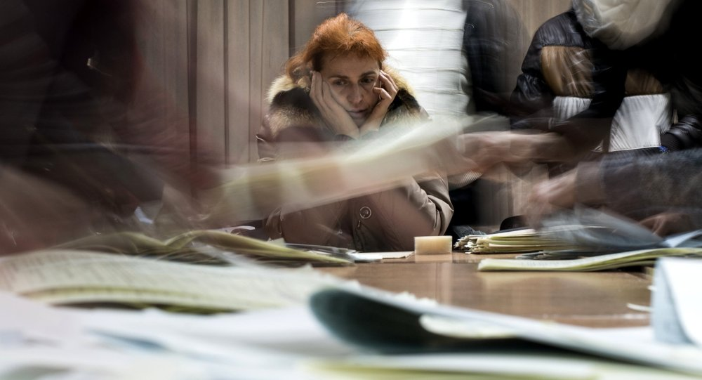 Counting ballots during election to Ukraine's Verkhovna Rada