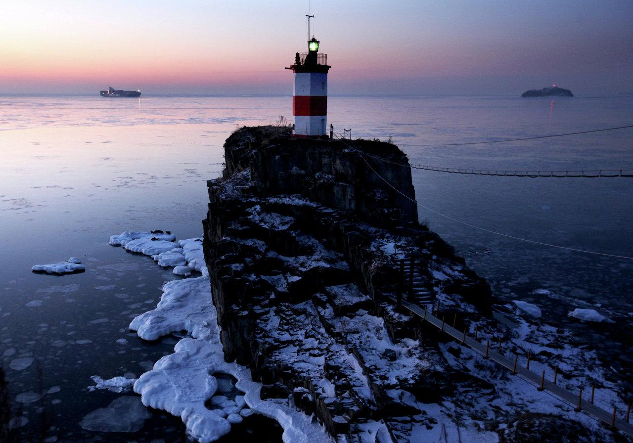 Basargin lighthouse in Vladivostok