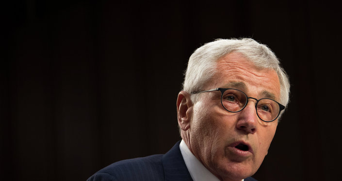 Secretary of Defense Chuck Hagel testifies before the Senate Armed Services Committee in Washington D.C. Sept. 16, 2014