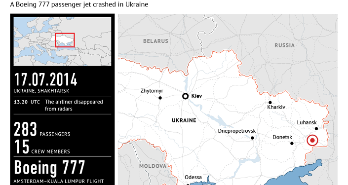 Malaysia Airlines MH17 crash near Donetsk